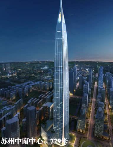 2017世界十大高楼排行榜:中国既然独占七座