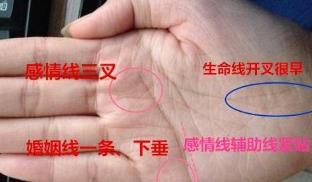 什么叫二婚線,二婚線的位置及手相圖解