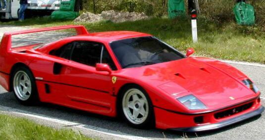 盘点世界上最具标志性的10款汽车,法拉利F40最受追捧