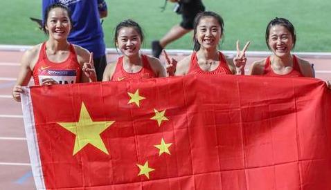 女子百米接力中国跑出亚洲历史第二,恭喜姑娘们
