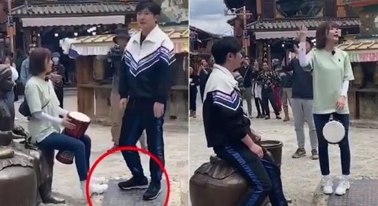文旅局回应郭京飞王珞丹坐雕塑:并非文物可以坐